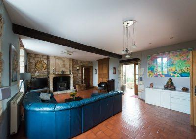 Chateau de Sadillac living room